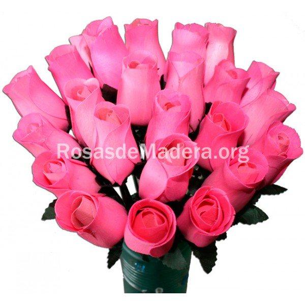 Rosa color rosa chicle rosas y flores de madera - Color rosas significado ...