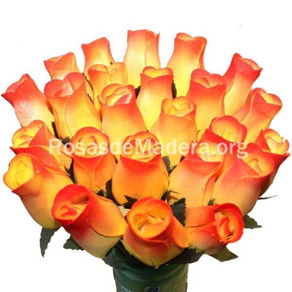 Rosa amarilla y naranja rosas y flores de madera - Significado rosas amarillas ...