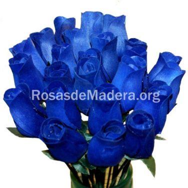 Rosa azul oscuro de madera