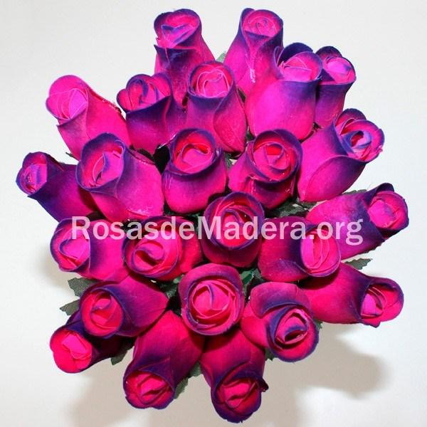 Rosa fucsia y morada