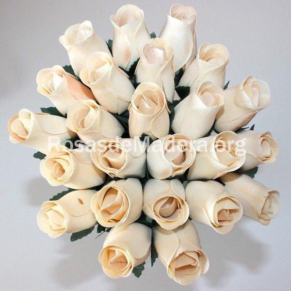 Rosa blanca madera