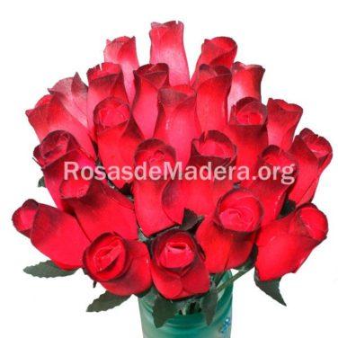 Rosa roja degradada de madera