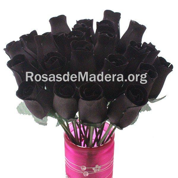 Rosa negra de madera