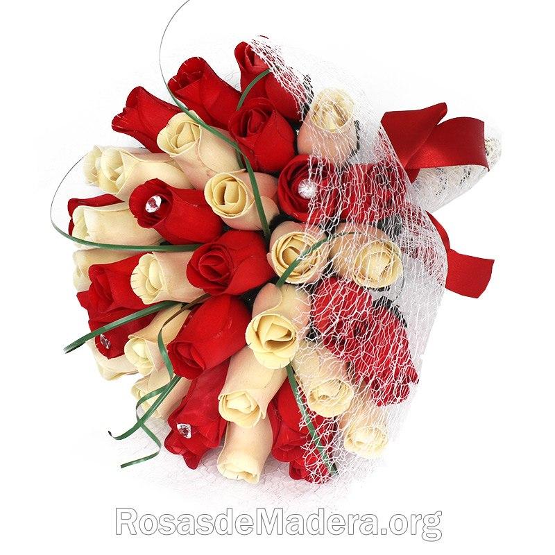 ramo de rosas romntico - Imagenes De Ramos De Flores