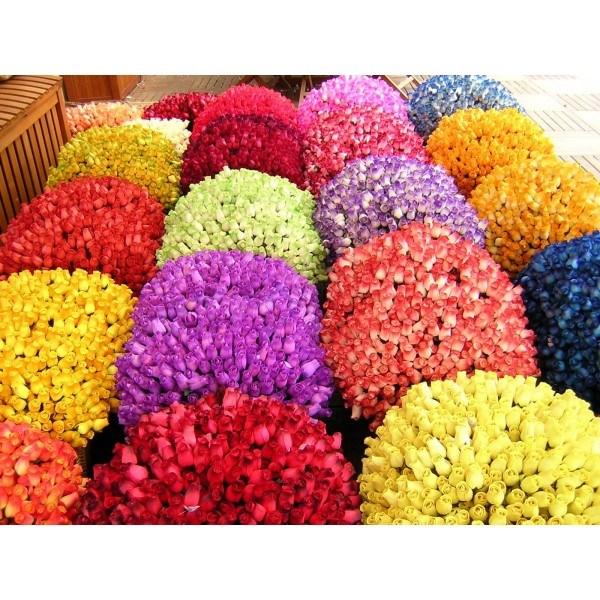 1600 rosas de madera con envoltorios y tallos