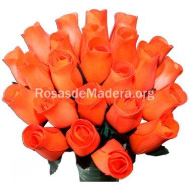 Rosa naranja calabaza