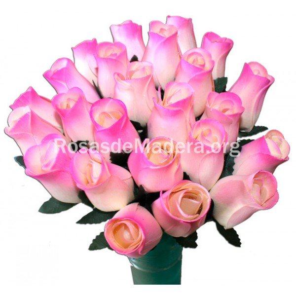 Rosa blanca y rosa