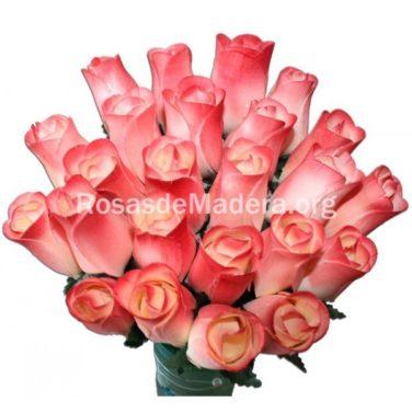 Rosa blanca y granate