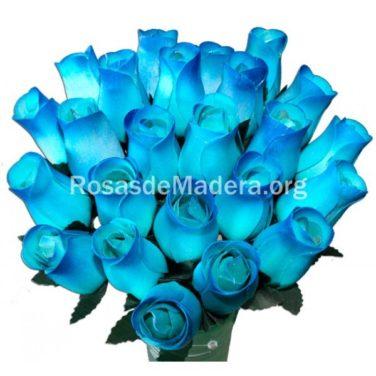 Rosa azul claro en degradado azul oscuro