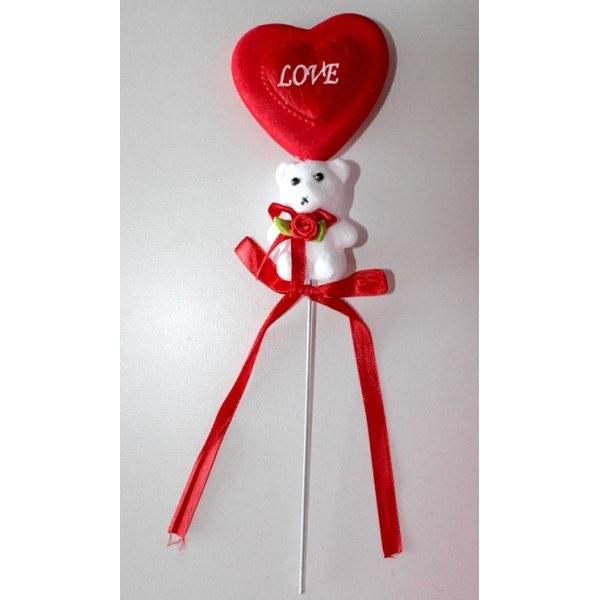 Corazón decorativo con osito