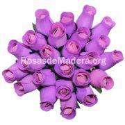 Rosa violeta de madera