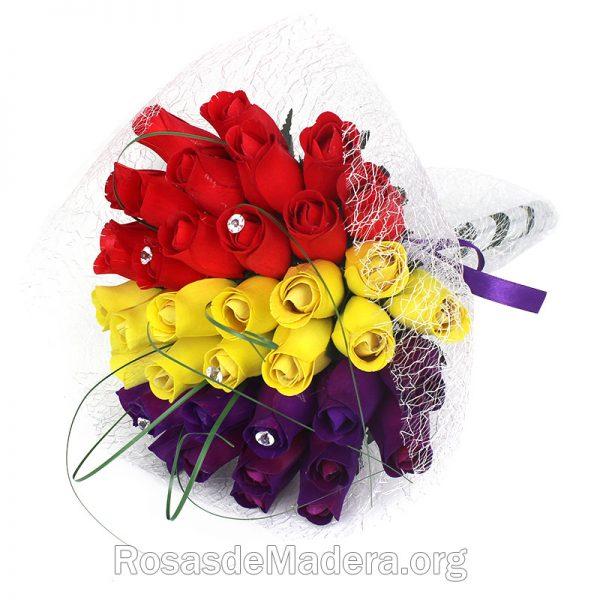 Ramo de rosas con los colores de  la República