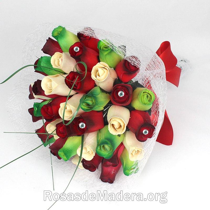 Ramo De Rosas Bilbao Rosas Y Flores De Madera