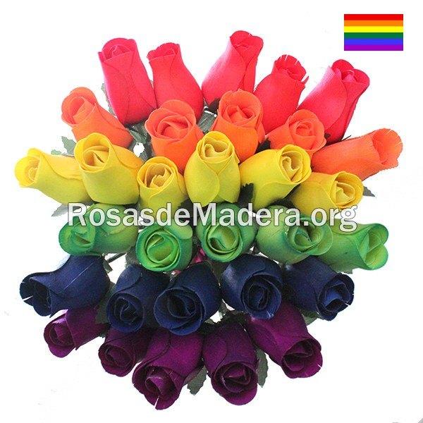 Ramo rosas orgullo gay