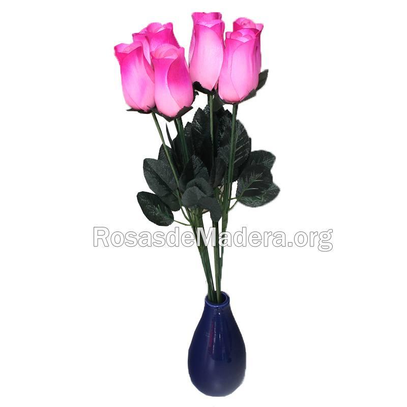 Rosa grande rosa de madera