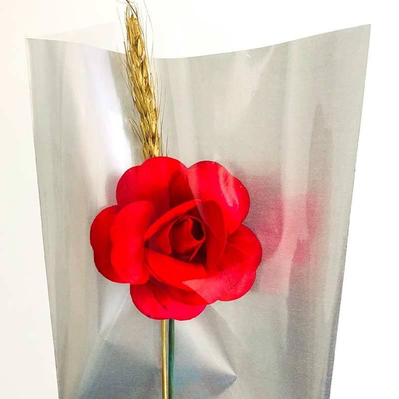Rosa abierta Sant Jordi de madera