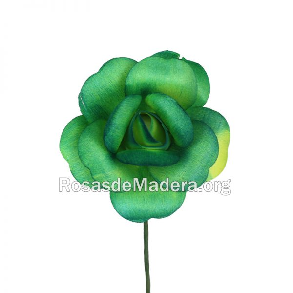 Rosa verde abierta
